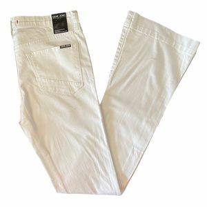 NWT Dear John white denim jeans midrise flare 29